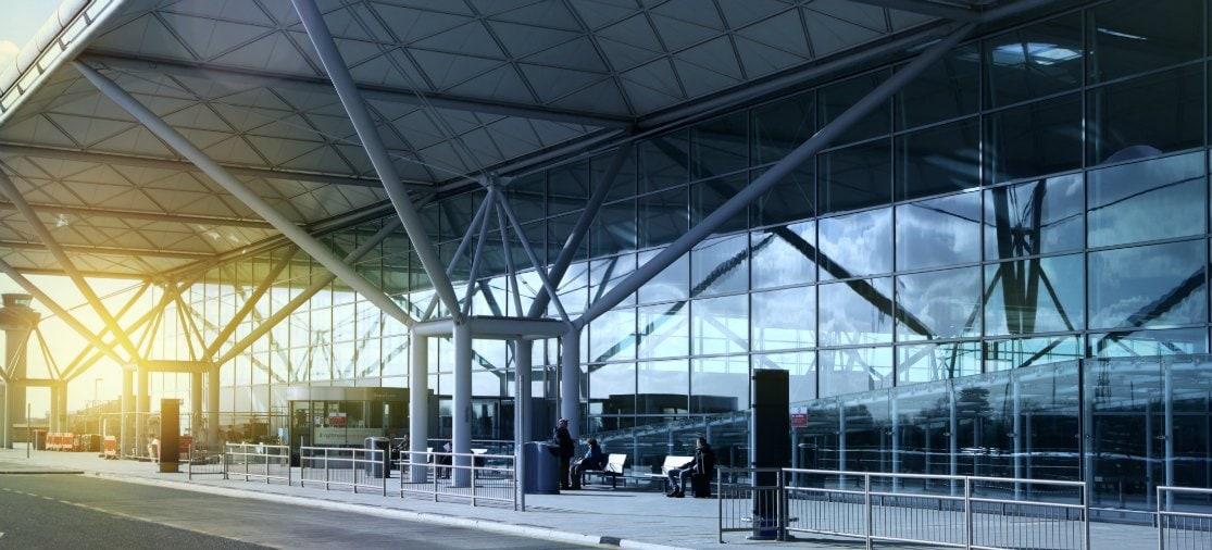 Londen Stansted Airport terminalgebouw