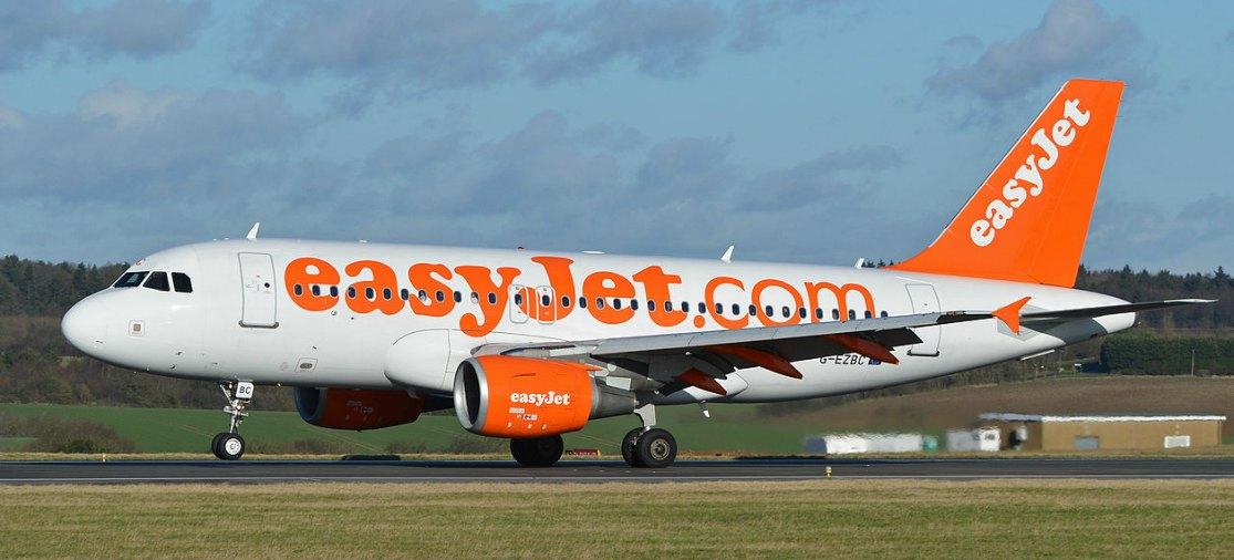 Easyjet-toestel op Londen Luton Airport