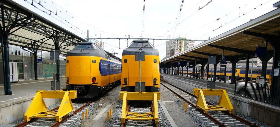 Trein op het station van Groningen