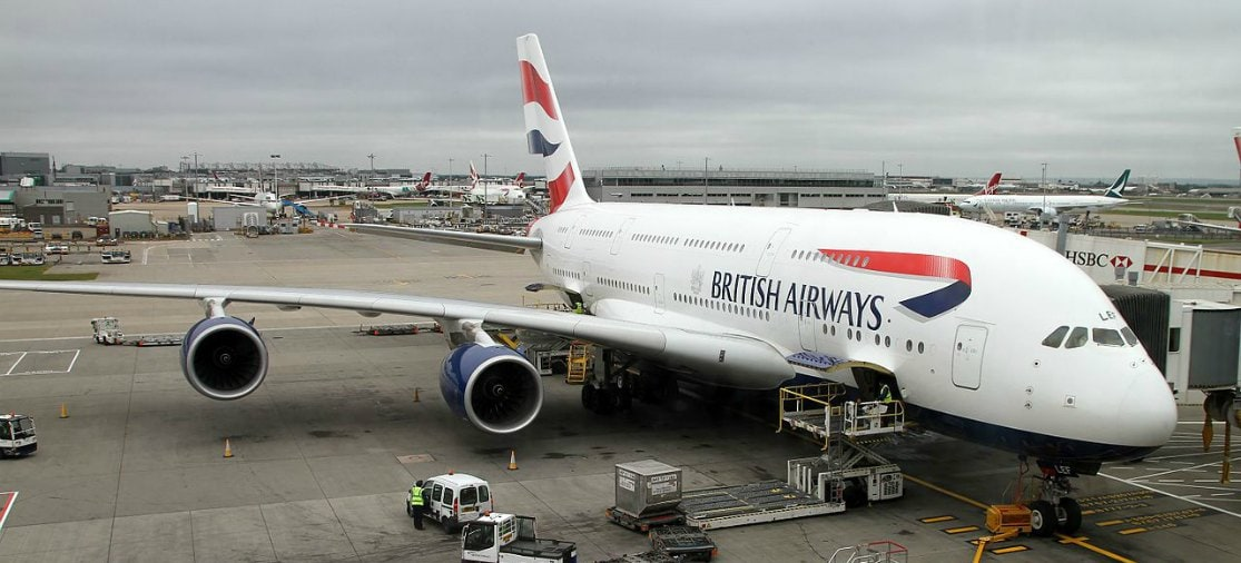 British Airways toestel Londen Heathrow