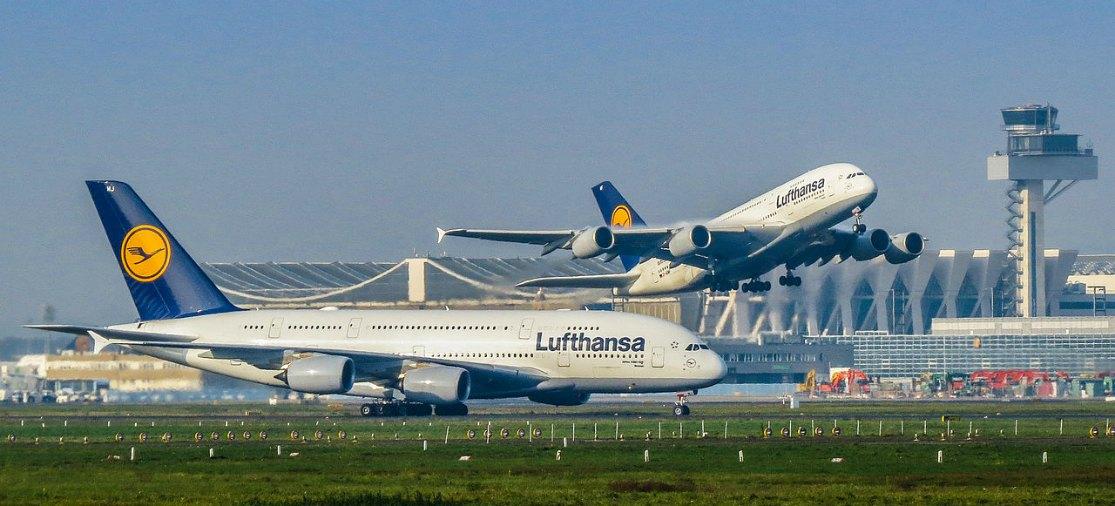 Lufthansa A380 toestellen Frankfurt Airport
